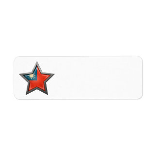 Taiwanese Flag Star Label