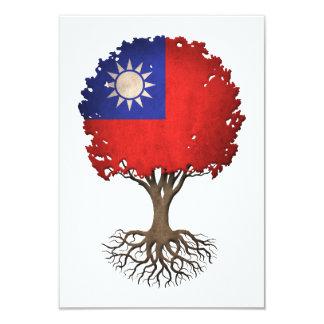 Taiwanese Flag Tree of Life Customizable 3.5x5 Paper Invitation Card