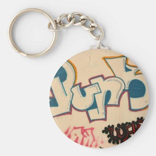 Taiwanese graffiti basic round button keychain