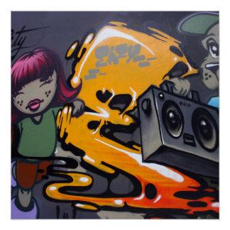 Taiwanese graffiti, Taipei, Taiwan Poster