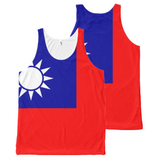 Taiwanese national flag Shirt All-Over Print Tank Top