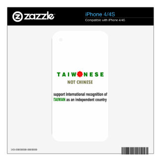 Taiwanese Not Chinese Decal For iPhone 4