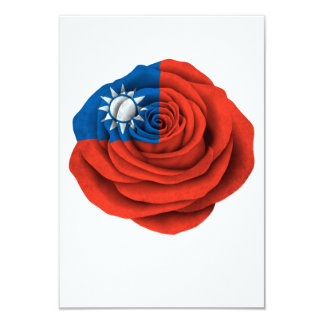 Taiwanese Rose Flag 3.5x5 Paper Invitation Card