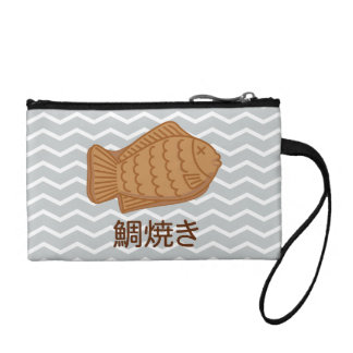 Taiyaki Japanese Fish-Shaped Cake Festival Food Coin Wallet