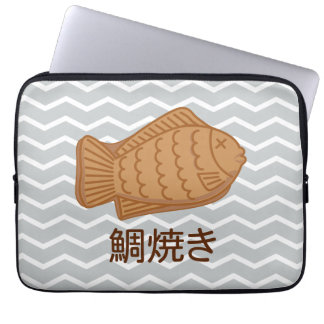 Taiyaki Japanese Fish-Shaped Cake Festival Food Computer Sleeve
