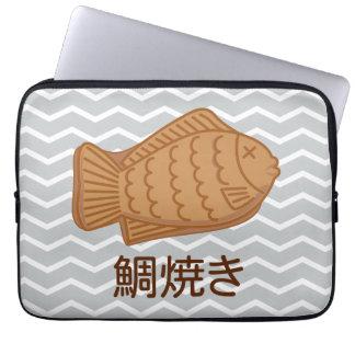 Taiyaki Japanese Fish-Shaped Cake Festival Food Laptop Sleeve