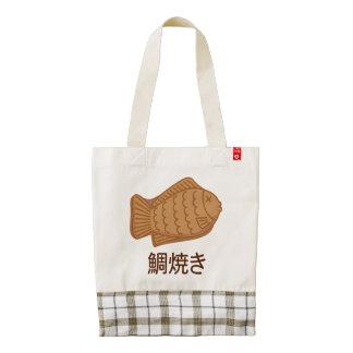 Taiyaki Japanese Fish-Shaped Cake Festival Food Zazzle HEART Tote Bag