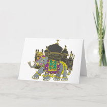 Taj Elephant Card