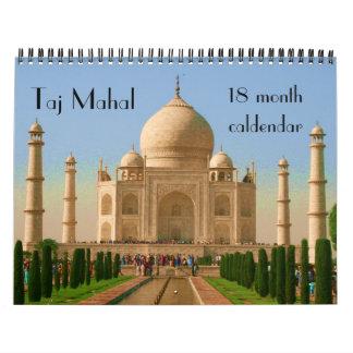 taj mahal 18 month calendar