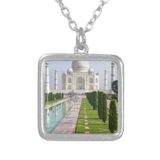 Taj Mahal 3 Square Pendant Necklace