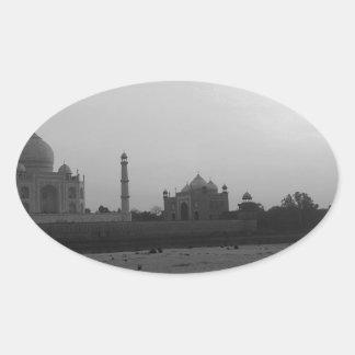 Taj Mahal 5 Oval Sticker