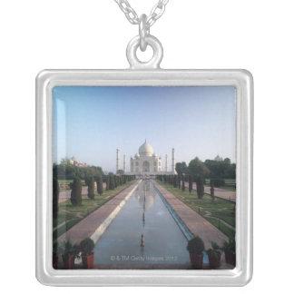 Taj Mahal 7 Square Pendant Necklace