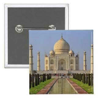 Taj Mahal, a mausoleum located in Agra, India, 2 2 Inch Square Button