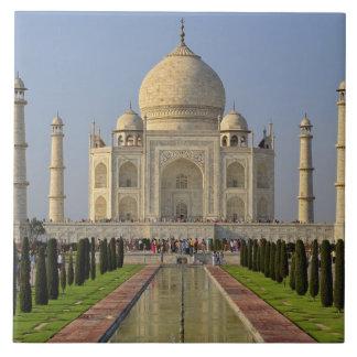Taj Mahal, a mausoleum located in Agra, India, 2 Large Square Tile