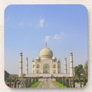 Taj Mahal, a mausoleum located in Agra, India, Beverage Coaster