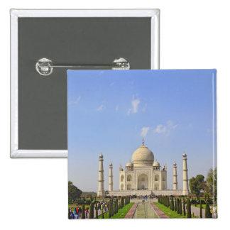 Taj Mahal, a mausoleum located in Agra, India, 2 Inch Square Button