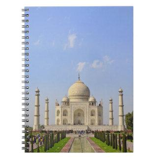 Taj Mahal, a mausoleum located in Agra, India, Notebook