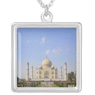 Taj Mahal, a mausoleum located in Agra, India, Square Pendant Necklace