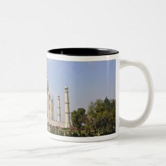 Taj Mahal, a mausoleum located in Agra, India, Two-Tone Coffee Mug
