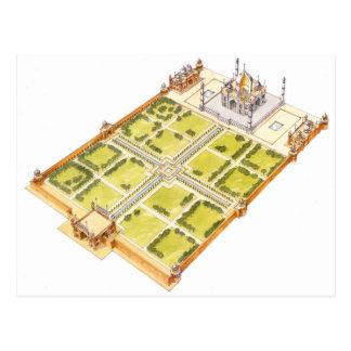 Taj Mahal. Adra India. Tomb and gardens Postcard
