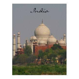 taj mahal afar india post card