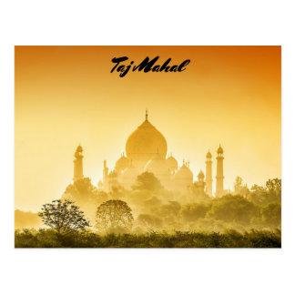 Taj Mahal Against a Golden Sky Postcard