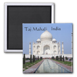 Taj Mahal, Agra, India 2 Inch Square Magnet