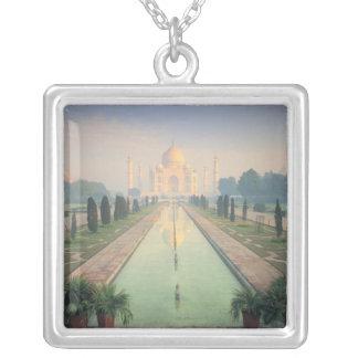 Taj Mahal, Agra, India 2 Square Pendant Necklace