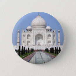 Taj Mahal, Agra, India Button