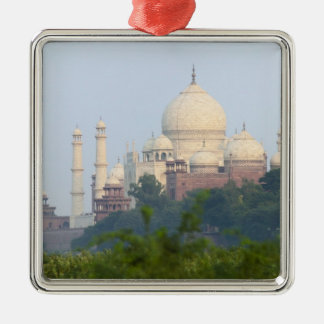 Taj Mahal, Agra, India Square Metal Christmas Ornament