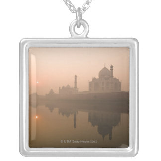 Taj Mahal, Agra, India Silver Plated Necklace