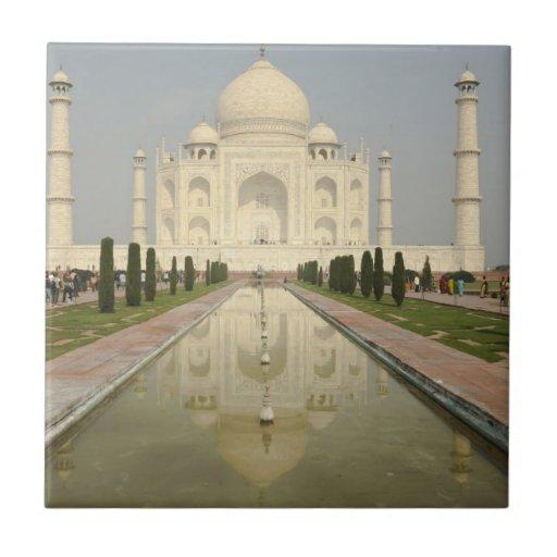 Taj Mahal, Agra, India Small Square Tile
