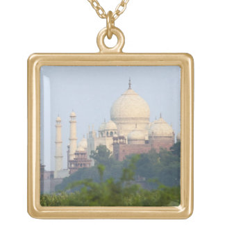 Taj Mahal, Agra, India Square Pendant Necklace