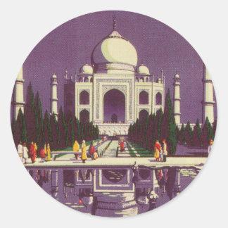 Taj Mahal, Agra Classic Round Sticker