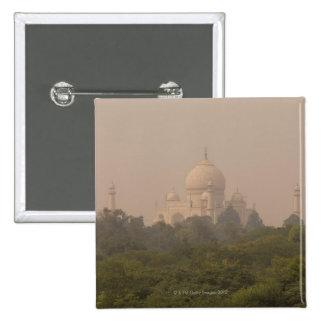Taj Mahal, Agra, Uttar Pradesh, India 4 2 Inch Square Button