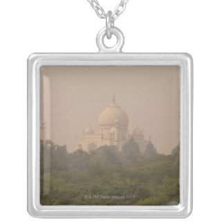 Taj Mahal, Agra, Uttar Pradesh, India 4 Silver Plated Necklace