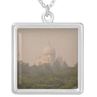 Taj Mahal, Agra, Uttar Pradesh, India 4 Square Pendant Necklace