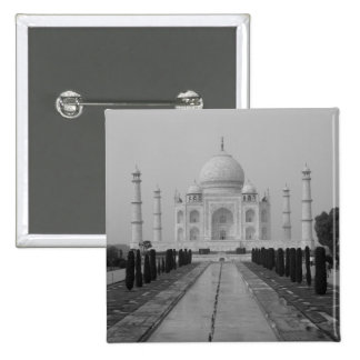 Taj Mahal, Agra, Uttar Pradesh, India 5 2 Inch Square Button