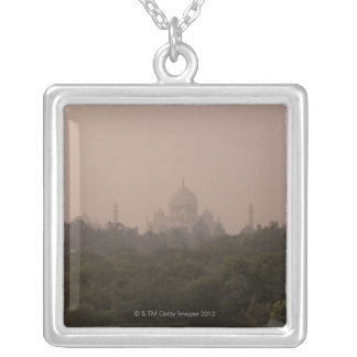 Taj Mahal, Agra, Uttar Pradesh, India Square Pendant Necklace