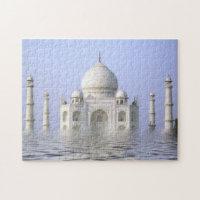 Taj-Mahal and Water jigsaw Puzzle