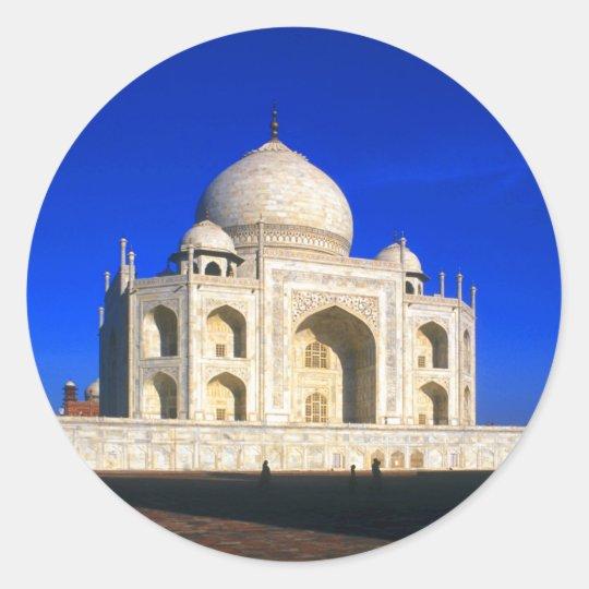 Taj Mahal at Agra Classic Round Sticker