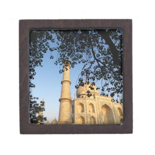 Taj Mahal  at sunrise. Agra, India 2008. Premium Keepsake Box