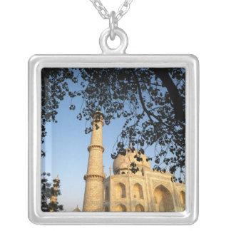 Taj Mahal  at sunrise. Agra, India 2008. Square Pendant Necklace