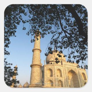 Taj Mahal  at sunrise. Agra, India 2008. Square Sticker