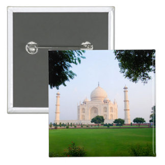 Taj Mahal at sunrise one of the wonders of the 2 Inch Square Button