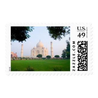 Taj Mahal at sunrise one of the wonders of the Postage