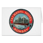 Taj Mahal, Bombay Vintage Luggage Label Cards