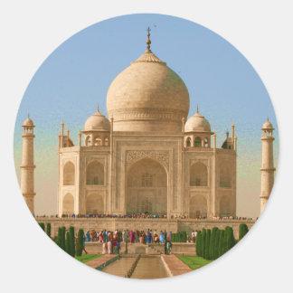 taj mahal bright classic round sticker