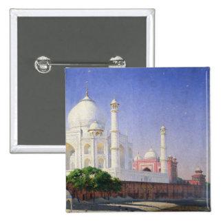 Taj Mahal 2 Inch Square Button