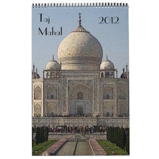 taj mahal calendar 2012